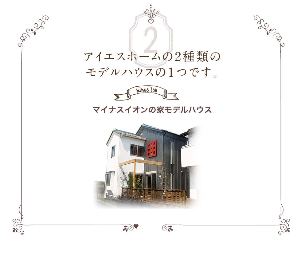 アイエスホームの2種類のモデルハウスの1つです。
